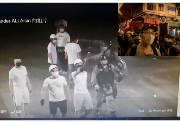 「疑案」元朗白衣漢追打黑衫人 警方大遲到   疑警黑合作
