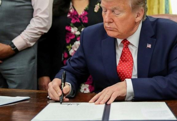川普簽署了《香港人權與民主法案》中方認為是「美國陰謀」