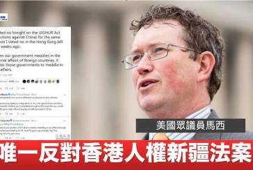 唯一投反對制裁損害香港人權的人