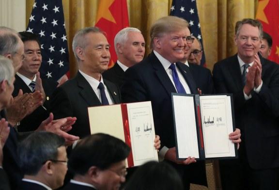 [中美貿易戰]第一階段經貿協議簽署
