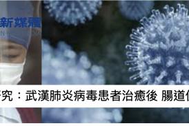 【疫情】港中文大研究:武漢肺炎病毒患者治癒後 腸道仍存有病毒