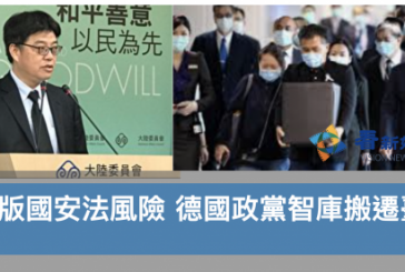 【國安法】憂港版國安法風險 德國政黨智庫搬遷臺灣