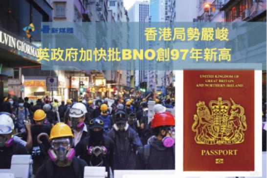 【國安法-BNO】香港局勢嚴峻 英政府加快批BNO創97年新高