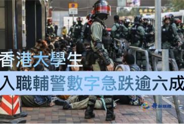 【警職招聘】香港大學生入職輔警數字急跌逾六成