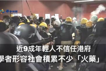 【香港民調】近9成年輕人不信任港府 學者形容社會積累不少「火藥」