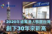 【移民】去年逾萬港人移居台灣 創下30年來新高