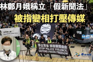 林鄭月娥稱立「假新聞法」 被指變相打壓傳媒