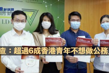 調查:超過6成香港青年不想做公務員