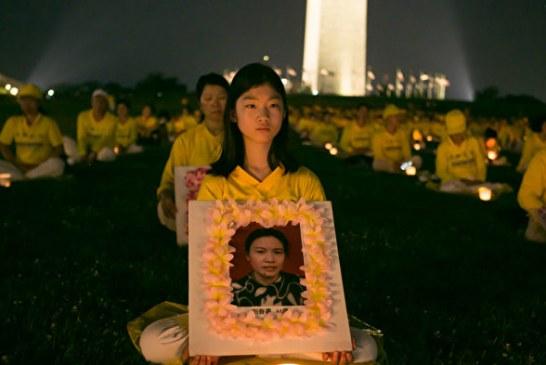 組圖:7.20法輪功反迫害22年 美國首都燭光夜悼